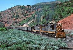 Once in a Lifetime Photo Opportunity (jamesbelmont) Tags: riogrande drgw emd sd9 ballasttrain worktrain spanishforkcanyon rednarrows railway