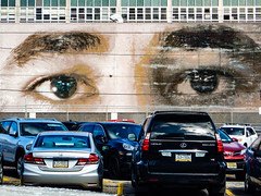 keeping watch... (w3inc / Bill) Tags: 81 w3inc nikon aw130 philadelphia mural parkinglot 365 2019