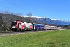 """1116 159, IC 533 """"Lienzer Dolomiten"""" ( Wien Hbf > Lienz ). Lendorf (M. Kolenig) Tags: 1116 intercity berg baum schnee"""