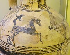 Cretan Archaic hydria with representation of a chariot race (detail) (diffendale) Tags: 7thcbce early7thcbce mid7thcbce 1sthalf7thcbce 1stquarter7thcbce 2ndquarter7thcbce earlyarchaic archaic hydria chariot race charioteer biga horse athletics sports athlete competition agon funeral games skouriasmenos σκουριασμένοσ kavousi pleiades:findspot=589860 crete kriti creta kreta κρήτη crète candia крит cretan كريت eastcrete museum museo museu musée μουσείο музеи müze artifact display exhibit متحف ancient antico antique archaeological archeologico