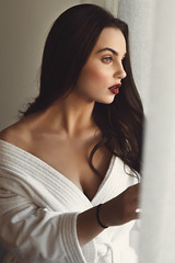 Slow mornings (AlexanderHorn) Tags: portrait morning beauty woman face lips natural portraiture portraits candid