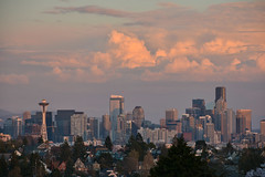 Magnolia Sunset Views 15 (C.M. Keiner) Tags: seattle washington usa city cityscape skyline mountains pacific northwest puget sound sunset magnolia hills clouds spring cherry blossoms