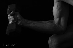 Stay strong and fit in your 60's. So, let's get physical! (SevenOneSeven Studio) Tags: bodyparts bodybuilding armexercise bicepworkout dumbbell bicep bicepcurl blackandwhitephotography exercise liftingweight weightlifting dumbbelllifting pumpingiron