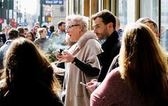 Smoke Break - 34th St, NYC (TravelsWithDan) Tags: people sidewalk smokers urban city candid streetphotography nyc newyork manhattan 34thstreet springtime canong3x
