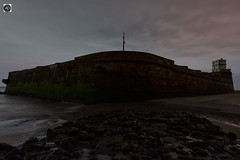 Once a charged battery. (alundisleyimages@gmail.com) Tags: fortperchrock defence installation sandstone rivermersey nepolionic architecture building fort newbrighton merseyside tide river weather walls maritime portofliverpool