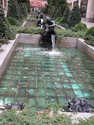 30 Rock - Rockefeller Plaza Center Fountain 9586 (Brechtbug) Tags: 30 rock rockefeller plaza center fountain with fish riders octopus sculpture off 5th ave near 49th 50th streets entrance sea creature tentacles nyc 011019 new york city arms wrapping around statue january 2019