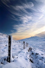 Cold Fells (PJ Swan) Tags: snow winter fells mountains lake district cumbria bleaberry fell high seat fence lines england great britain