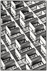 Modern living (Andy J Newman) Tags: london monochrome archetecture art arty blackandwhite bleach building d810 docklands eastlondon nikon pattern shape england unitedkingdom gb