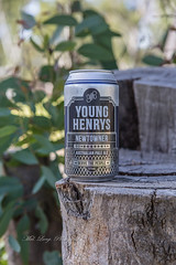 Young Henrys Newtowner Australian Pale Ale 4.8% abv my rating 3.8 outa 5 (Malcom Lang) Tags: beer ale pale bier biere drink can australian newtowner young henrys newtown 375ml alcohol stump wood leaves shrub canon