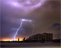 Fremantle Power station lightning (beninfreo) Tags: lightning storm electricity weather thunder thunderbolt severeweather stormchaser australia fremantle westernaustralia light derelict fremantlepowerstation cyoconnor beach cloudtogroundimages canon 24105mm 5dmarkiv