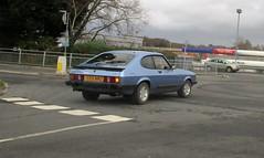 1985 Ford Capri 2.8i (occama) Tags: c59mmo 1985 ford capri 28i blue old british car cornwall uk classic