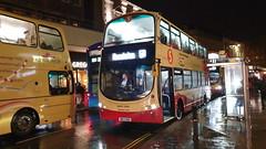 Brighton & Hove Bus 463, North St, Brighton. (ManOfYorkshire) Tags: bk13oag rain damp wet raining bus wright gemini gemini2 volvo b9tl northst brighton brightonhove buses throughfare 463 doubledecker route5b hangleton service night evening dark stop busstop