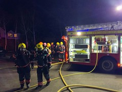 House fire - Granchester - South Cambs - 17/2/2019 (Cambridgeshire Fire and Rescue Service) Tags: firefighter firefighters fire engine truck equipment incident granchester house cambs cambridgeshire cambridge hose