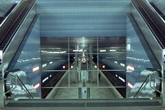 Überseequartier (_jona) Tags: cinestill 800t canon hamburg hafencity hochbahn film tungsten