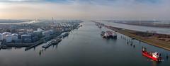 Europoort (Peet de Rouw) Tags: europoort calandcanal calandkanaal port portofrotterdam scheepvaart ships landtong rozenburg holland peetderouw aerial drone djimavicplatinum panorama