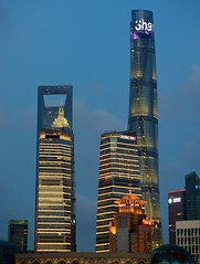 Shanghai - Tall (cnmark) Tags: china shanghai pudong skyline night lights lujiazui bright colored coloured light nacht nachtaufnahme noche nuit notte noite tall tallest scenic architecture blue hour shanghaicenter towerswfcshanghai ifc中国上海浦东陆家嘴上海中心© all rights reserved