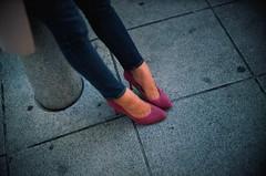 Pink heels (jaxting) Tags: jaxting people candid pinkhighheels pink highheels 東京 tokyo city street filmisnotdead istillshootfilm velvia50 noctilux leica
