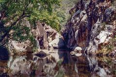 Lower Portals, 1993 (NettyA) Tags: 1993 australia lowerportals mtbarneycreek mtbarneynationalpark qld queensland bushwalking scannedprint scenicrim