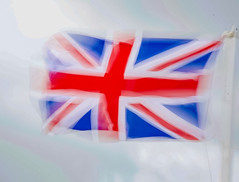 Red White and Blue (S2TDD) Tags: jack union gb uk great britain united kingdom flag motion blur red white blue