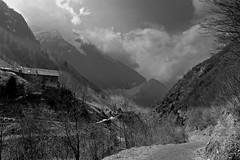 A Hike above Bristen 1 (martinus.structor) Tags: bnw blackandwhite bw berge mountains monochrome landscape landschaft alps alpen uri bristen switzerland schweiz schwarzweiss clouds centralswitzerland