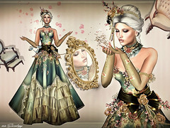 DUST SPRING .... (irrISIStible shop) Tags: irrisistible isissecretspy isis secretspy dusty dust spring mesh dress gown victorian silk lace hairs fantasy flowers roses wild costume women woman sl second life secondlife omega applier maitreya belleza slink hourglass sofia swank ballroom ball princess