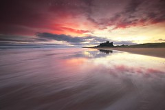 Watercolours (Stu Patterson) Tags: stu patterson sunrise bamburgh castle northumberland seascape