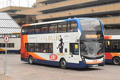 SE 10877 @ Peterborough Queensgate bus station (ianjpoole) Tags: stagecoach east alexander dennis enviro 400mmc yx67vdo 10877 working route 1 ferryview orton wistow three horseshoes werrington