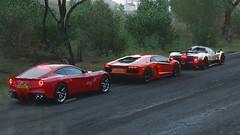 Ferrari & Lamborghini & Pagani (ivan_92) Tags: game screenshots vidoegame car racing road supercars ferrari f12berlinetta lamborghini aventador pagani zonda cinque roadster italia forzahorizon4 pc 4k