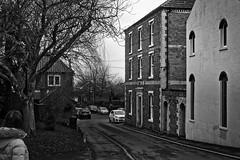 bank street caistor (Mallybee) Tags: caistor town bank street bw blackwhite mallybee xa1 apsc fuji fujifilm optomax 35mm f28 oldlens prime adapted
