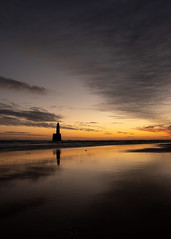 Rattray Head Lighthouse - Jan 2019 #06 (PeskyMesky) Tags: aberdeenshire rattrayhead lighthouse sunrise sunset water scotland sea sky sand red refection cloud canon canon5d eos