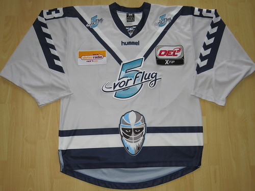 Hamburg Freezers 2015 - 2016 Final Season road Game Worn Jersey 52e1413c0