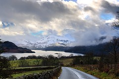 "Road to Winter ""Fell"" (vincocamm) Tags: ullswater lake cumbria glenridding patterdale snow mist clouds cloudy moody storm stormy wall drystone fells winter nikon d5500 sigma january beauty"