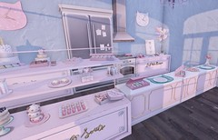 """One """"Sweet"""" Place (Emery/Teagan Parker) Tags: basil kittykitchenclutter gachagarden pink mint donuts cookies sweet halfdeer goodies treats epiphany mossandmink bakery display counter cute adorable decor"""
