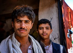 Sana'a Street (Rod Waddington) Tags: middle east yemen yemeni sanaa streetphotography street portrait men outdoor