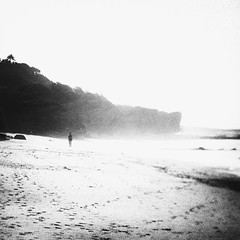 never truly gone (rui emanuel correia) Tags: never truly gone film 35mm project rui correia bw black white portugal 1x analog street mood beach ocean kodak analogue lensbaby