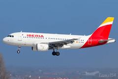EC-KUB | Iberia | Airbus A319-111 | BUD/LHBP (Tushka154) Tags: hungary spotter a319111 airbus ferihegy budapest eckub iberia a319100 a319 aircraft airplane aviation lhbp lisztferencinternationalairport planespotter planespotting