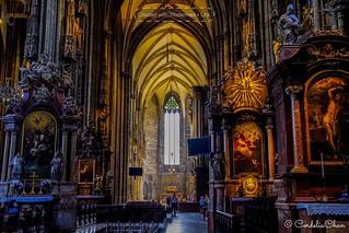 The beautiful Stephansdom.... Vienna
