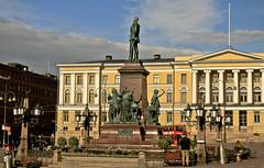 A9755HELSb (preacher43) Tags: helsinki finland senate square building architecture kruununhaka statue tsar alexander ii sky clouds