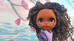 Farah (Motor City Dolly) Tags: custom ooak blythe doll black dolls color african american street art bishop arts district