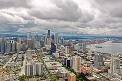 Seattle Panorama. Seattle, Washington (mtm2935) Tags: cityviews cityscape sound puget architecture landscape landscapearchitecture scenic panoramic buildings skyscraper skyline seattle