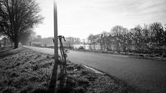 Bike ride. (deboof) Tags: javastraat brands racefiets bicycleride zwartwit blackandwhite velo amsterdam amstel bicycle bnw noiretblanc fiets