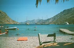 0067-0298-10 (jimbonzo079) Tags: palionnisos beach sea coast bar tavern kalymnos island dodecanese 2018 land landscape aegean seascape greece mountain canon ae1 fd nfd fdn 28mm f18 lens agfa hdc 100 expired trip travel world europe analog film 35mm 135 color colour art vintage old hellas ελλάσ ελλάδα summer people vacation water yacht boat ship palionnisosbeach kalymnosisland canonae1 nfd28mmf28 fd28mmf28 agfahdc100 agfahdc expiredfilm