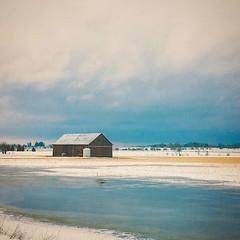 Photo (jessalynn_sammons) Tags: iphone squareformat cold roadside shed barn snow ice winter blue instagram ifttt