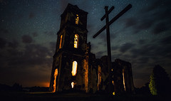 Белая Царква (free3yourmind) Tags: белая царква church ruins cross clouds cloudy night light architecture scary dark