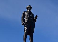 Captain James Cook (rustyruth1959) Tags: cook captain bluesky sky outdoor plinth monument dividers map geographer cartographer seafarer figure statue captaincookmemorial captaincook captainjamescook westcliff whitby yorkshire england uk nikon1855mm nikond5600 nikon scientist explorer navigator navy