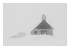 highest church (Nicky Hauptmen) Tags: zugspitze mountain bavaria highest snow mist winter church nebel schneesturm blizzard black white schwarz weis kirche berg höchsterberg