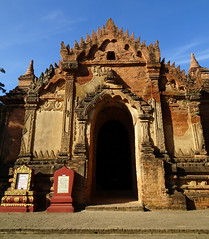 A new day in Bagan, another nameless temple in an unknown location (Claire Backhouse) Tags: bagan myanmar burma burmese temple buddha buddhism culture relgion architecture archaeology archaeological amazing bluesky