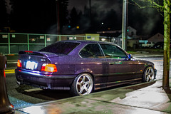 _MG_3476 (andreialta) Tags: bmw m3 night shoot e36 e36m3 technoviolet jdm advantc3 advanwheels yokohama yokohamawheels