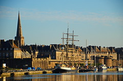 Saint Malo (shanahands2) Tags: saintmalo gunilla sail sailingbarque harbour britany church