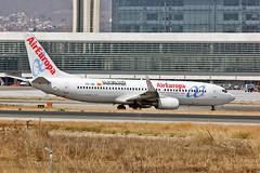 EC-JBL Boeing 737-85P Air Europa  El Mundo CS AGP 08-09-13 (PlanecrazyUK) Tags: ecjbl boeing73785p aireuropa elmundocs agp 080913 lemg malaga–costadelsolairport malaga costadelsol